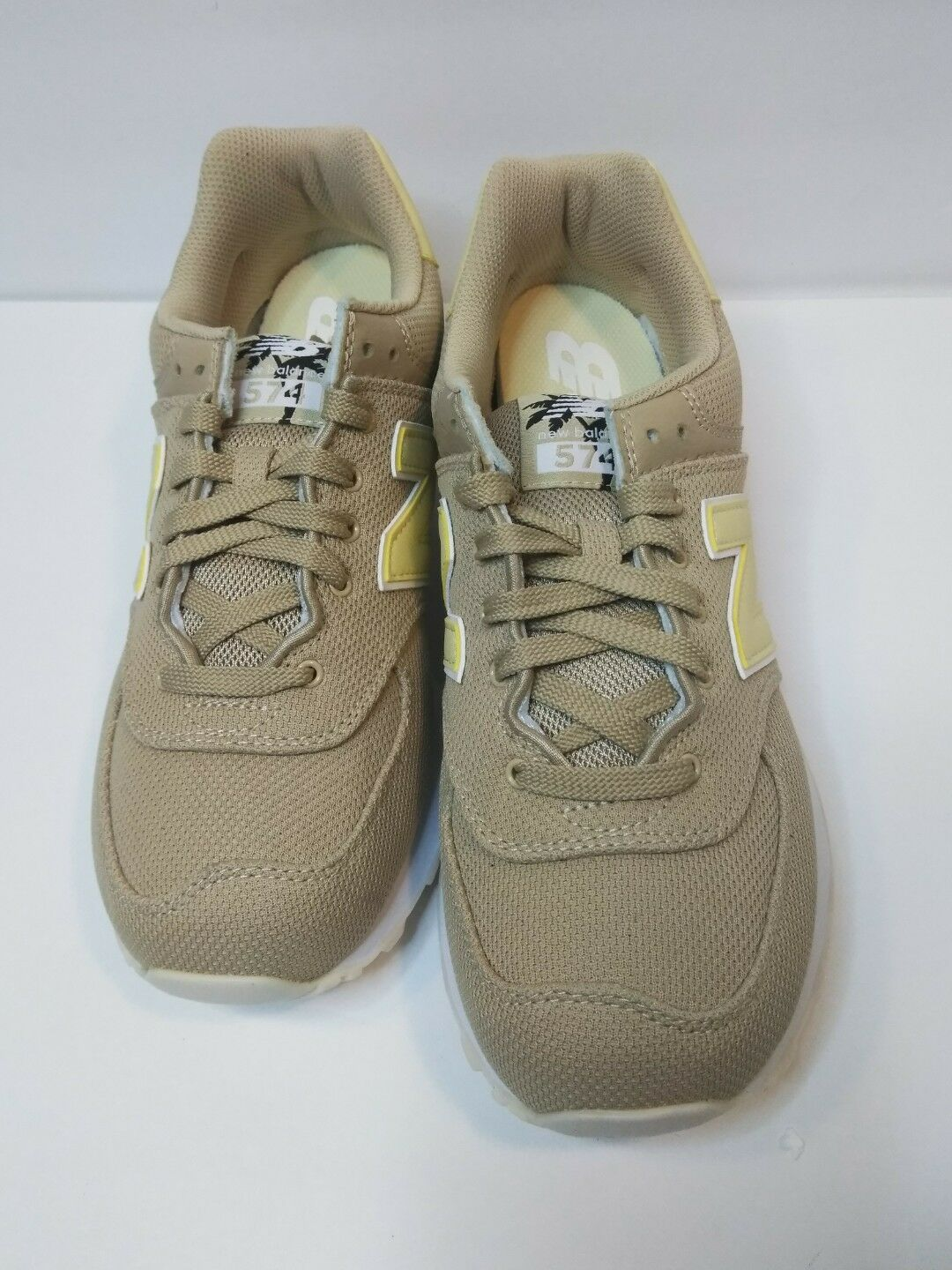 New Balance Womens Sneakers 9.5, 574 Miami Palms Sand Pollen WL574MIA
