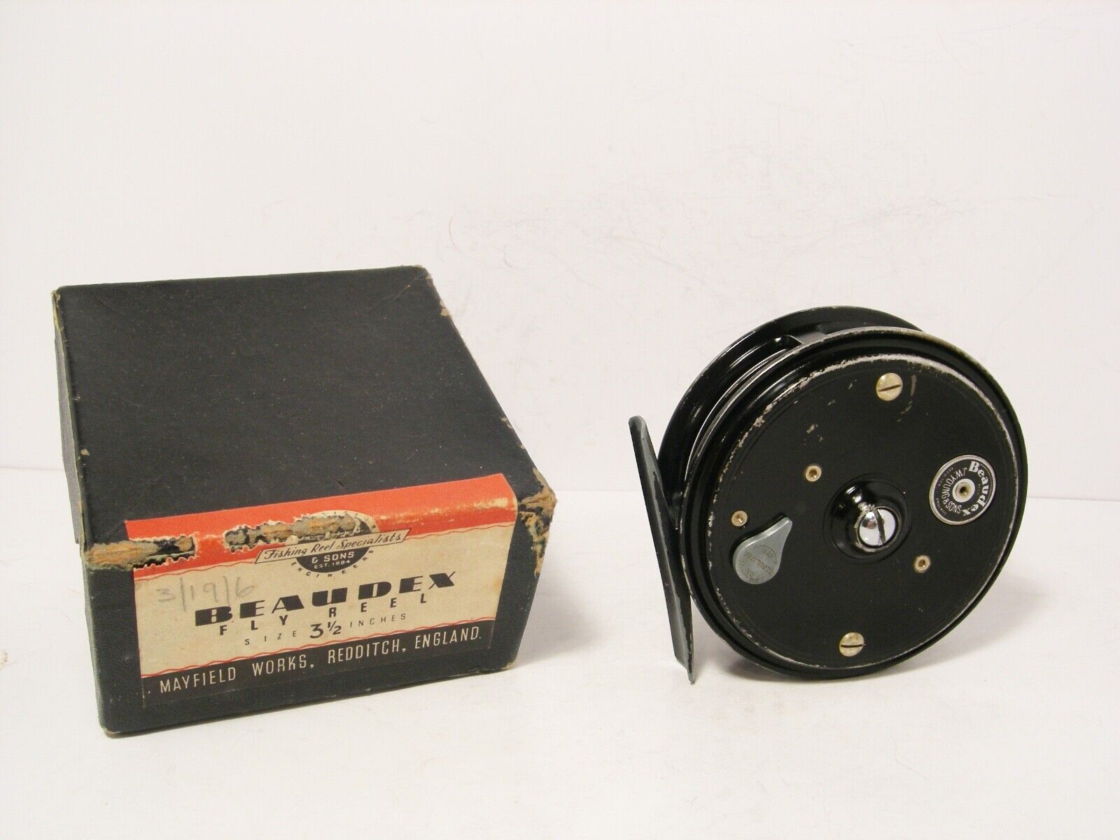 Vintage Boxed JW Young 3 ½  Beaudex Fly Fishing Reel - Retaining Well...