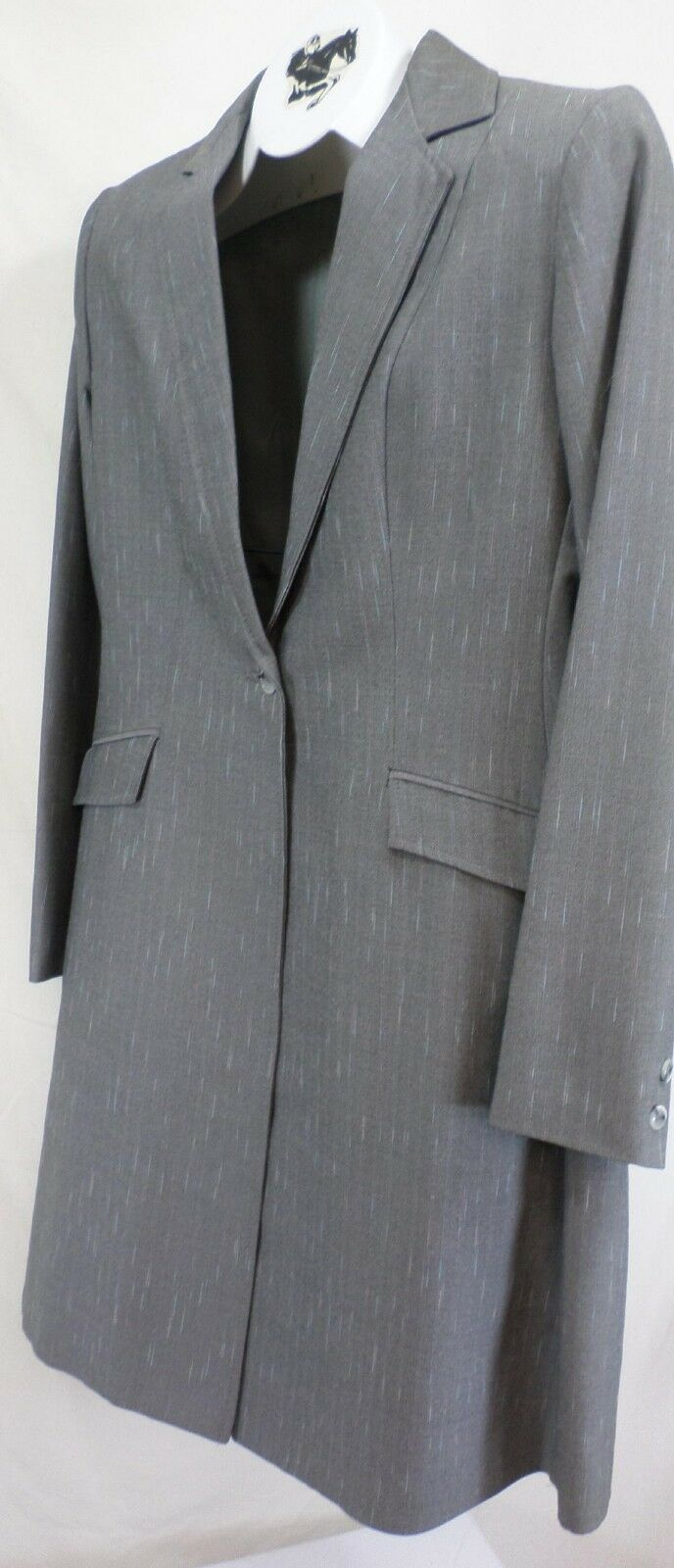 Reed Hill Ladies Saddleseat suit 3 pc Light grigio Pinstripe poly  8 - USA