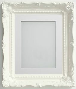 Image Is Loading Frame Company Langley Range Ornate White Picture Photo