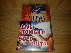 NIRVANA-Live-Tonight-Sold-Out-Pal-Vhs-Video-VGC