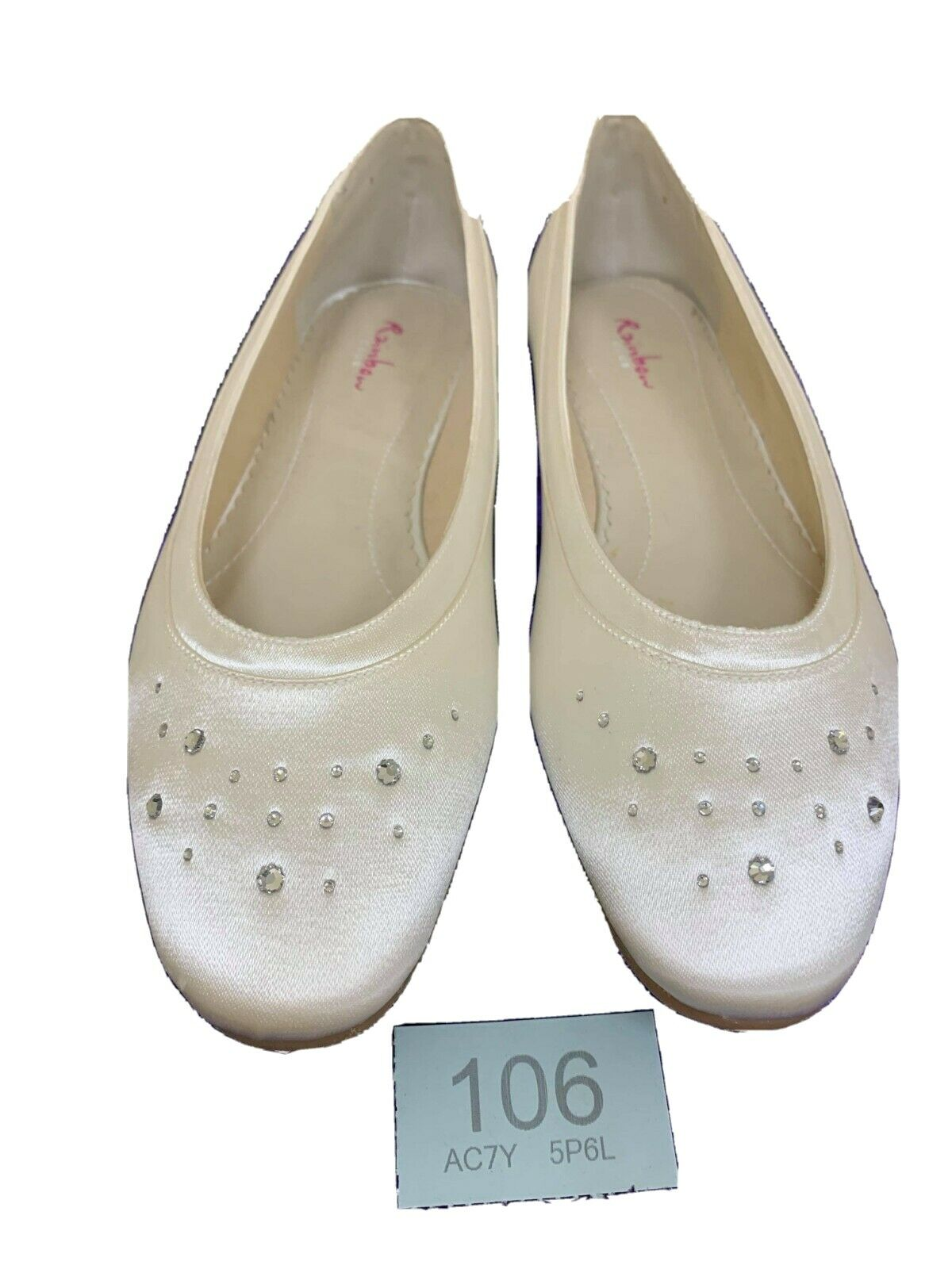 New in box. Rainbow Club wedding shoes size 3 satin Style Maggie flats Code 106