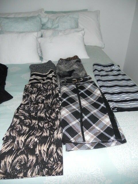 NAME BRAND SKIRTS, VINCE CAMUTO, BCBG, LOFT, ANN TAYLOR,10 IN ALL