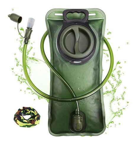 Hydration Bladder 2 Liter leak Proof Water Reservoir Military Storage BPA Free
