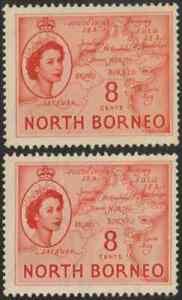 NORTH-BORNEO-1954-QE-II-PICTORIAL-DEFINITIVE-8cX2-MNG-CAT-RM-10