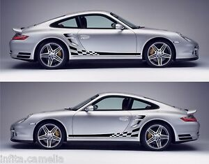 Porsche Gt Racing Stripes Sticker Decal Kit Sports Car - Sporting car decals