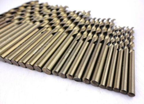 """5pcs 2mm 0.0787/"""" HSS-Co M35 Straight Shank Twist Drill Bits For Stainless Steel"""