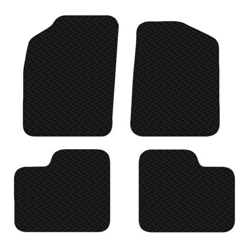 Fiat 500 2012 Onwards Black Floor Rubber Fully Tailored Car Mats 3mm 4pc Set