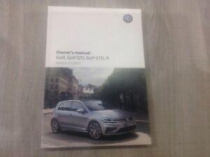 vw golf gti gtd r handbook pack owners manual 2014 2018 print rh ebay co uk 2015 volkswagen golf gti owners manual 2005 volkswagen golf gti owners manual