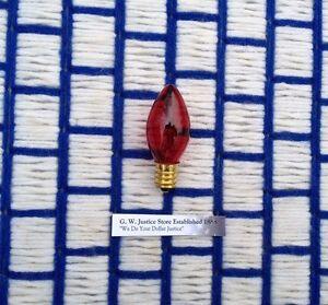 Box of 24 ~ RED C7 twinkle blinker flashing CHRISTMAS LIGHT bulb 7w string lite eBay