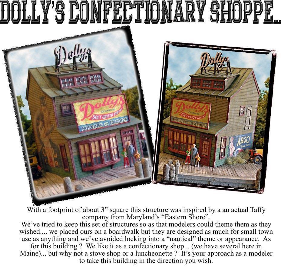 ventas en línea de venta Bar Mills 1240 Ho Dolly's confitería Shoppe Construcción Kit Kit Kit de corte láser Envío Gratis  tienda en linea