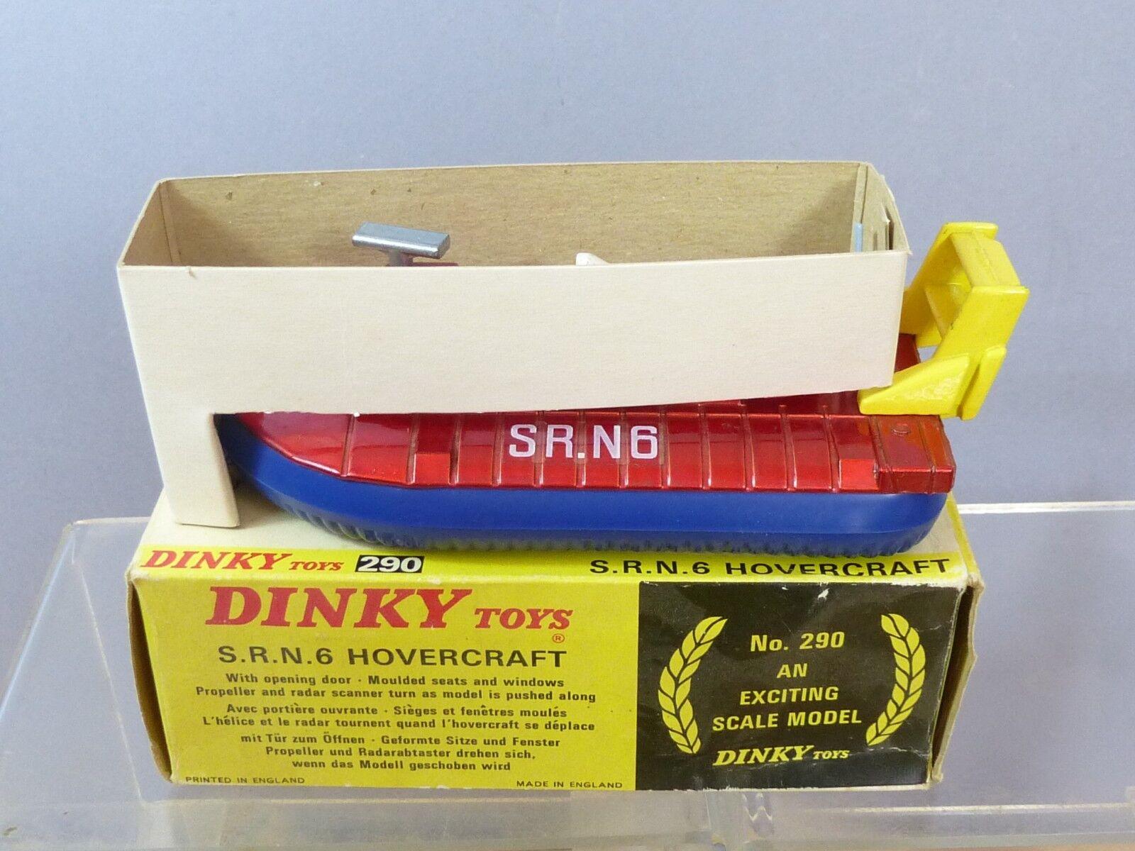 DINKY TOYS modèle No.290 S.R.N.6 HOVERCRAFT  Metallic  rouge Version  VN En parfait état, dans sa boîte  pour pas cher