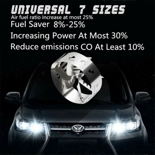Car Turbo HP Booster Fuel Gas Saver Air-fuel Ratio Exhaust Power 44-49mm 1.8-2L