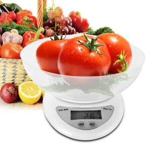Multi-unit-Digital-Electronic-Kitchen-Scale-Food-Scale-w-Bowl-amp-2x-AAA-Battery