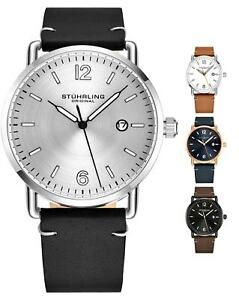 Stuhrling 3901 Men's Symphony Japan Quartz Classic Design Leather Strap Watch