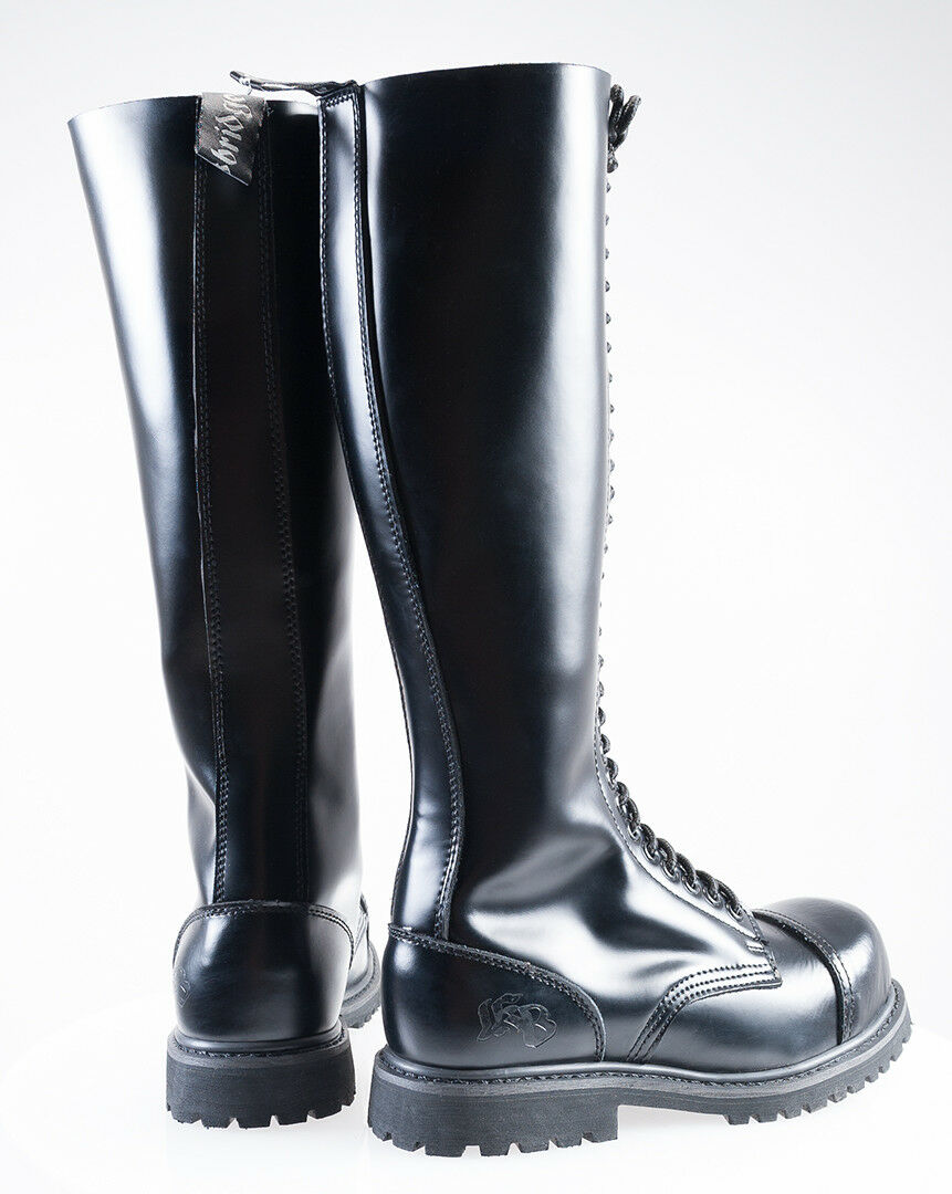 Leder Army Boots 37 schwarz Stiefel mit Stahlkappe 37 Boots 38 39 40 41 42 43 44 45 46 47 cdeb15