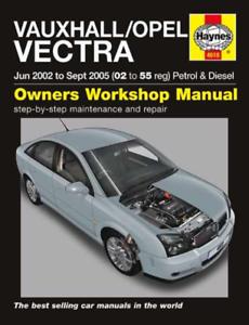 VAUXHALL OPEL VECTRA 2002-2005 nuovo manuale Haynes Manuale Officina Servizio Riparazione