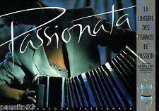 PUBLICITE ADVERTISING 116  1988  le soutien gorge Passionata (2p)