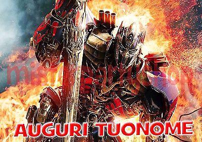 Alert Cialda Other Coffee Ostia Per Torte Transformers 5 M1 L'ultimo Cavaliere Formato Grande A3 Moderate Price