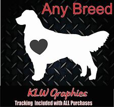 your Dog Breed Heart Truck Laptop Rescue Car Decal AKC Sticker Family Pets