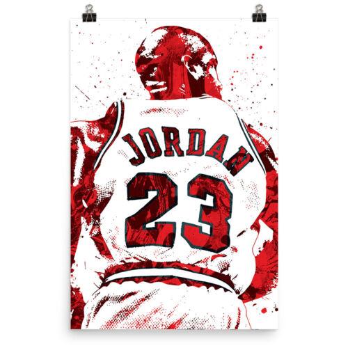 Michael Jordan Chicago Bulls Jersey Poster FREE US SHIPPING