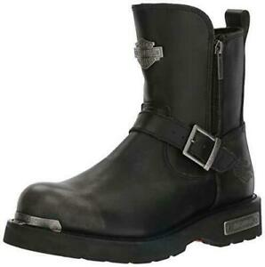 Harley-Davidson-Men-039-s-Startex-Black-Leather-Motorcycle-Boots-Riding-Shoes-D96090