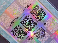 Nail Art Vinyl Stencil Guide Shattered Glass Style Tip Manicure Sticker JV206