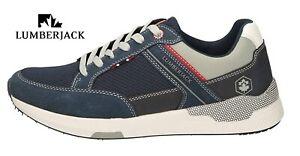 Scarpe Sneakers da Uomo Lumberjack sportive casual con lacci estive leggere blu
