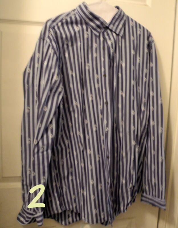 Ausdrückliche Langärmlig Herren Shirt Blau Streifen GrÖsse L Groß