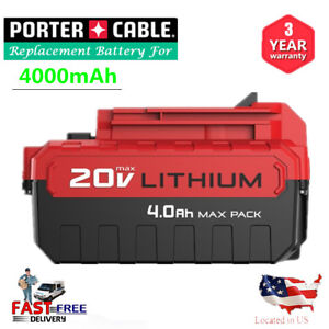 20V-MAX-4-0AH-Lithium-Ion-Battery-For-Porter-Cable-PCC685L-PCC680L-Power-Tool-US