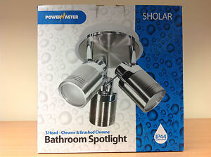 Salle-de-bains-chrome-Spotlight-amp-Chrome-Brosse-3-x-35W-GU10-Spot-IP44-Moderne