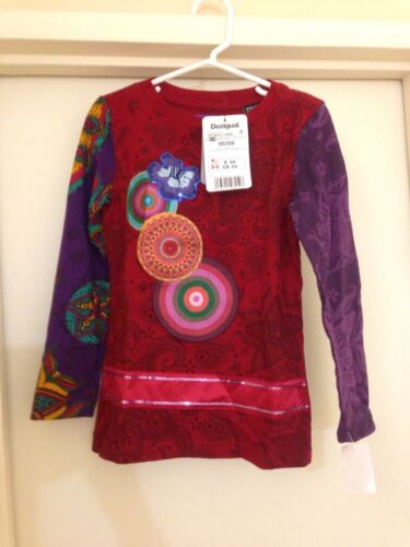 Desigual Girls Multi-Colored Long Sleeve Everday T-shirt Size 5-6