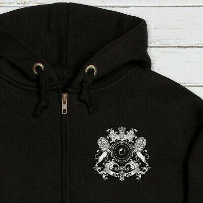 Junglist Lion DJ Hoodie Drum and Bass Womens Mens Printed Sweatshirt Hooded Top