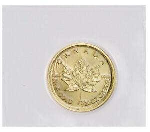 2019 Canada 1/20 oz Gold Maple Leaf $1 Coin GEM BU Mint Sealed SKU55542