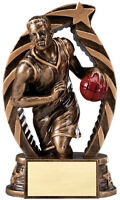 Basketball Trophy, Design, About 6 High, W/ Engraving, Antique Gold