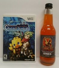 NINTENDO WII FINAL FANTASY FABLES LOT CHOCOBOS DUNGEON + WIZS ENERGIZING ELIXIR