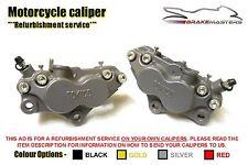 Kawasaki ZZR 1100 D6 96 front brake calipers refurbishment service 1998