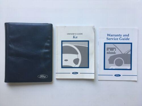 FORD KA Proprietari Manuale Manuale bookpack da 1997 a 2002