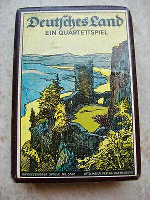 1930 Quartettspiel Ravensburger Deutsches Land 5512 Otto Maier Verlag Vollständi Letzter Stil