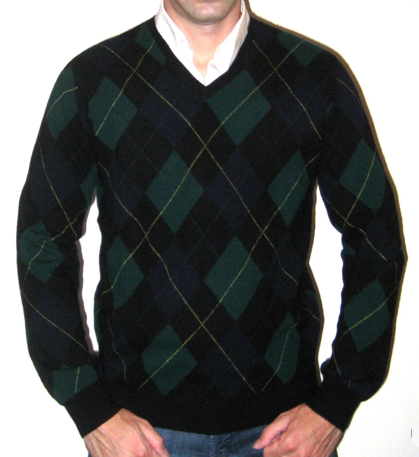 Ralph Lauren RLX Lambs Lambs RLX Lana Argyle Sweater  295 - Size Medium 513d13