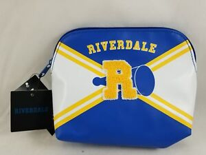 New Riverdale Varsity Cheer Makeup Bag Faux Leather 3D R Hot Topic Exclusive