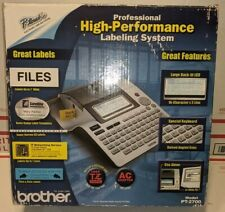 New Listingbrother Pt 2700 P Touch Thermal Desktop Labeling System Silverblack Brand New