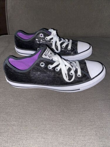 Converse All Star Women's Size 9 Sequin Sneakers L