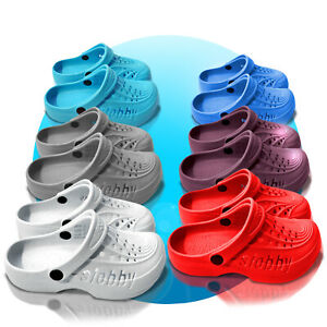 Damen-Clogs-Schuhe-Hausschuhe-Badeschuhe-Frauen-Slobby-Sandalen-GR-36-41-eva