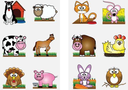 72 x Farm Animal Temporary Tattoos