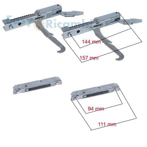 Kit 2 cerniere piu/' 2 portarulli porta forno leggera 440253 LOFRA FRANKE