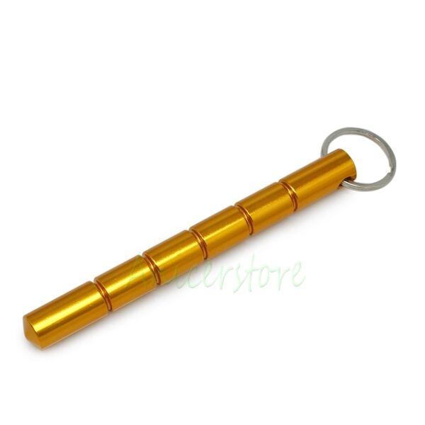 Solid Aluminum Kubaton Kubotan Keychain Keyring Pocket Stick For Self Defense GD