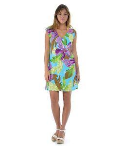 NEW-Jams-World-Sherry-Dress-Flower-Song-Hawaiian-Sundress-XL-Made-in-USA