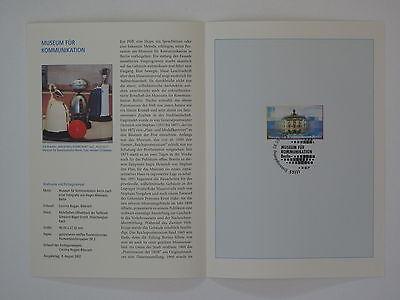 2276 Museum Für Kommunikation Bund Erinnerungsblatt 2002 Esst Mi.nr Liberal 02j33