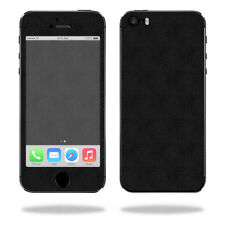 Skin Decal Wrap for Apple iPhone 5/5s/SE sticker Black Leather